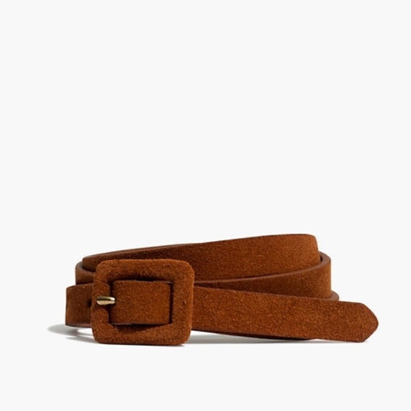40601b1f5c0 Madewell Accessories | Suede Covered Buckle Belt Sz M | Poshmark